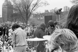 """GHU at the """"Be-In"""" spring 1967, Lincoln Park. Photo by Larry House, courtesy M. Warman."""