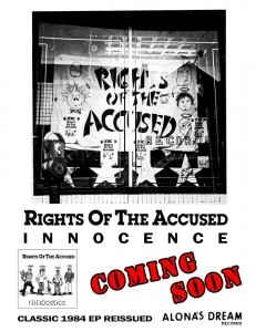 Rights Of The Accused Innocence EP coming soon on Alona's Dream.